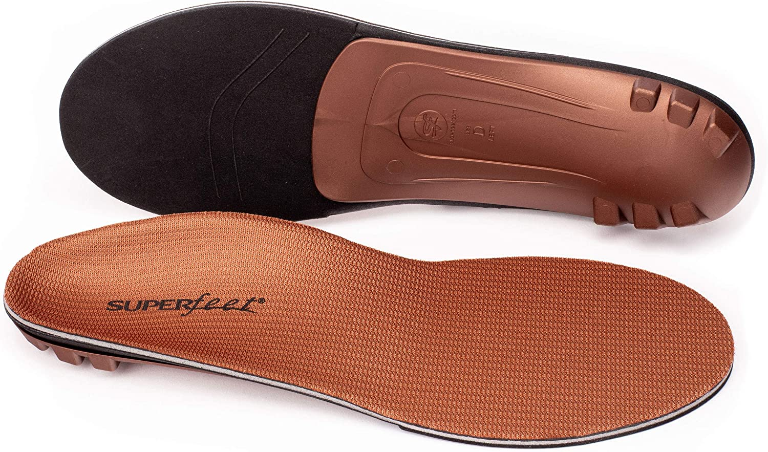Superfeet COPPER, Memory Foam Comfort plus Support Anti-fatigue Replacement Insoles