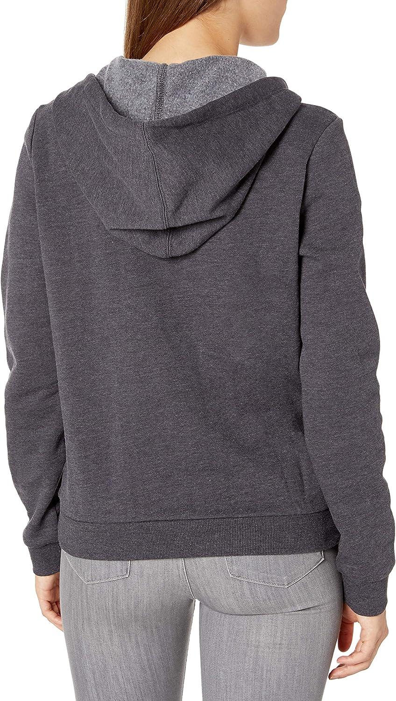 Hurley Damen Perfect Solid Zip Fleece Hoodie Hemd Ölgrau Hthr