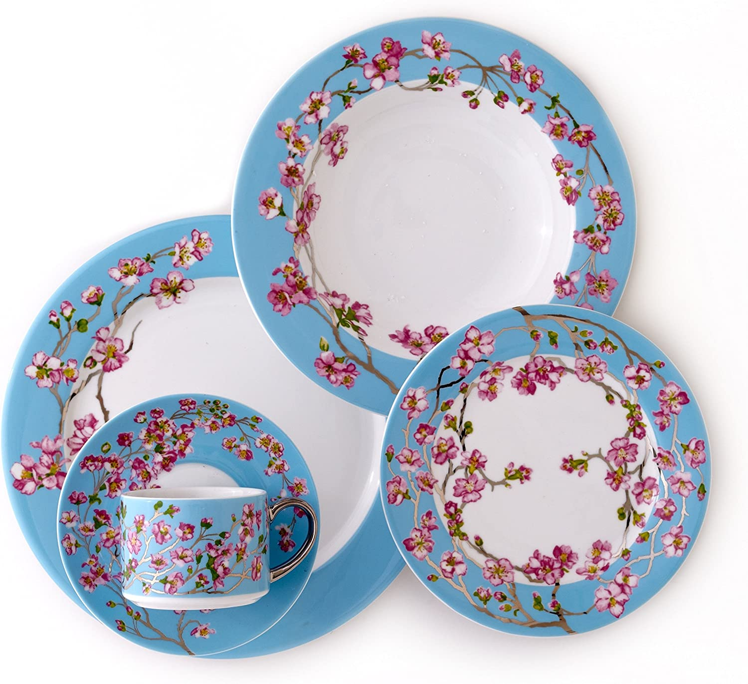 April in NY 5 Piece Place Setting Dinnerware Set