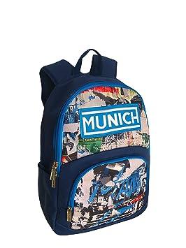 Munich 450805 Graffiti Mochila Tipo Casual, 43 cm, 20 litros, Azul Marino: Amazon.es: Equipaje