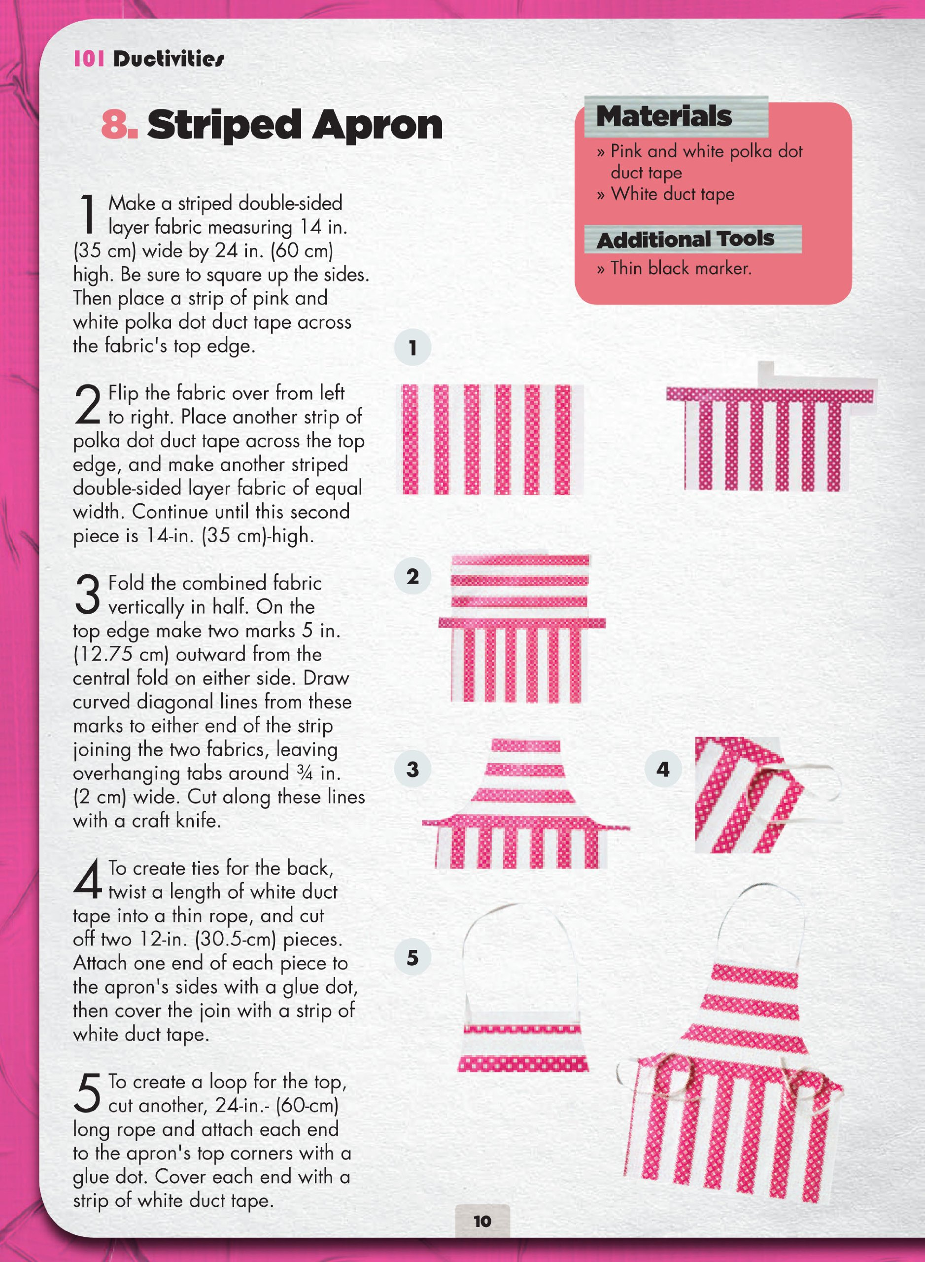 White apron tape - Tape It Make It 101 Duct Tape Activities Tape It And Duct Tape Series Richela Fabian Morgan 9781438001357 Amazon Com Books