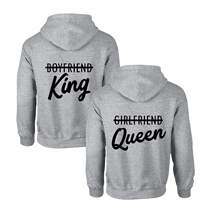 Couples Shop King Queen P/ärchen Pullover Hoodie Set f/ür 2