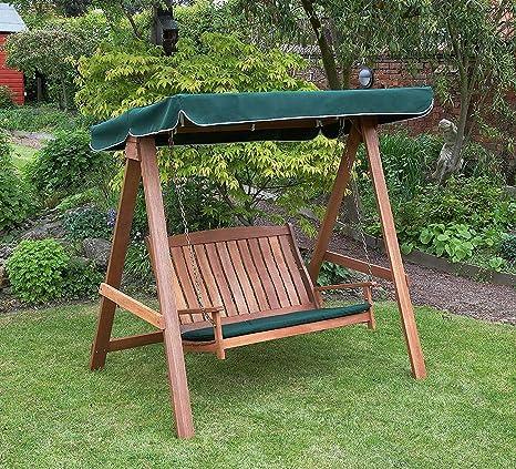 DNNAL - Columpio de salón para jardín Hardwood Swinging Hammock asiento de banco con el toldo para patio Yard jardín en la parte posterior del porche cubierto: Amazon.es: Deportes y aire libre