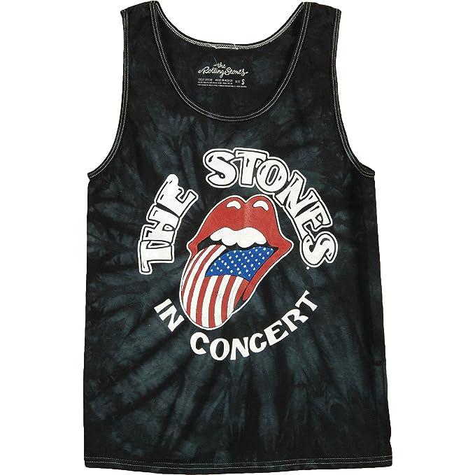 3e79857f2a2625 Bravado Rolling Stones The Stones in Concert Mens Tie Dye Tank Top-Small  Black