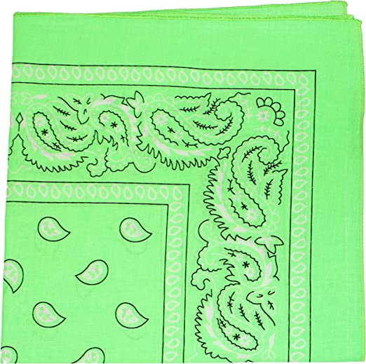 Pack Of 4 Paisley Design Bandanas Hot Pink Baby Pink Green Orange BEST DEAL