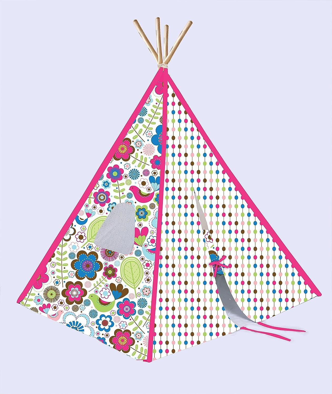 【限定品】 Bacati – Girl Bacati Girl B0764KTFKR 's折りたたみ式Teepee再生テント植物ピンクwith竹4極 B0764KTFKR, 川島織物セルコン デザインポート:ff9cc70b --- narvafouette.eu