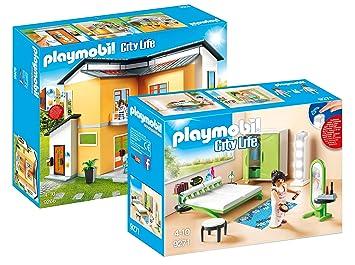 Amazon.de:Playmobil City Life - Set: Modernes Wohnhaus (9266 ...