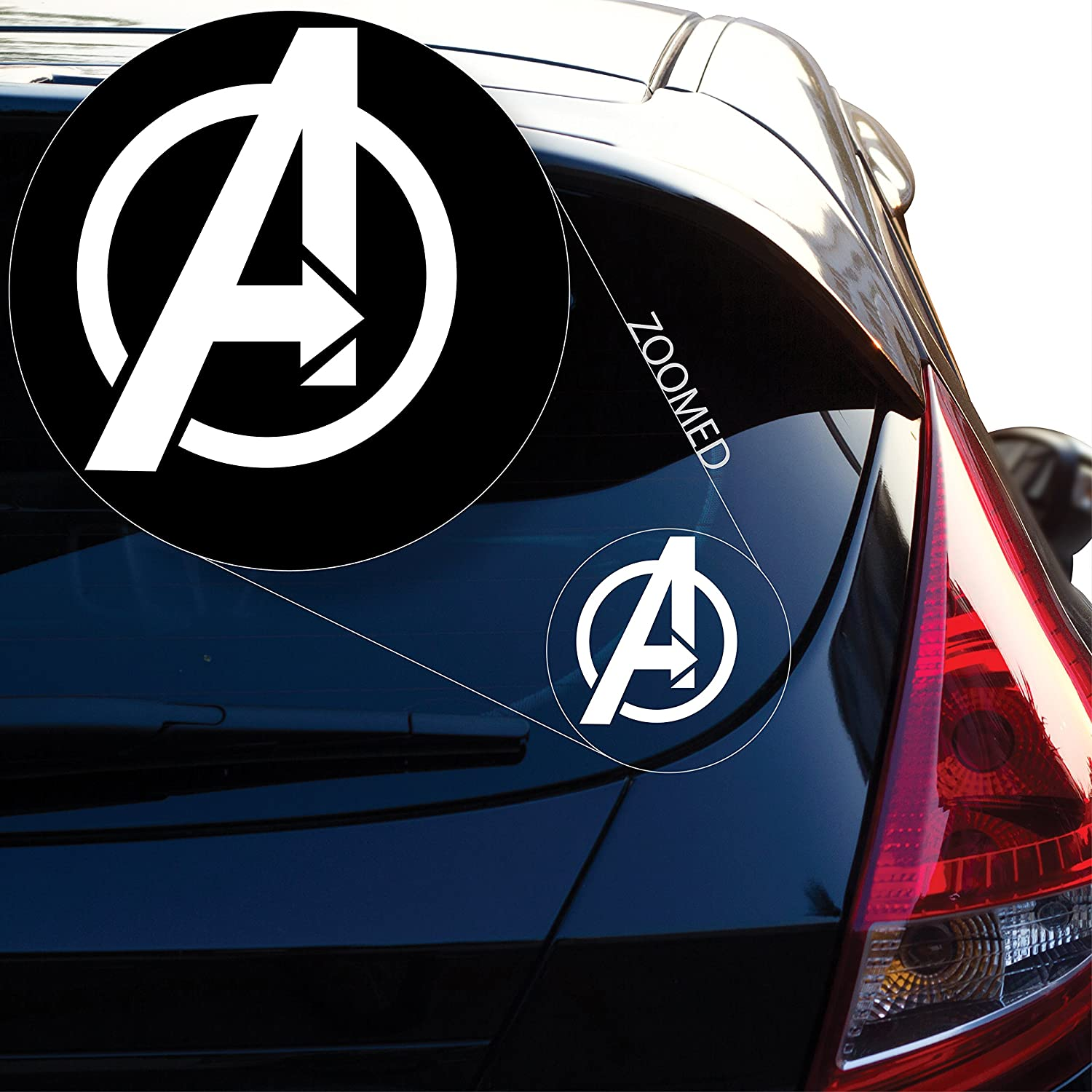 Amazon com yoonek graphics avengers decal sticker for car window laptop and more 528 4 automotive