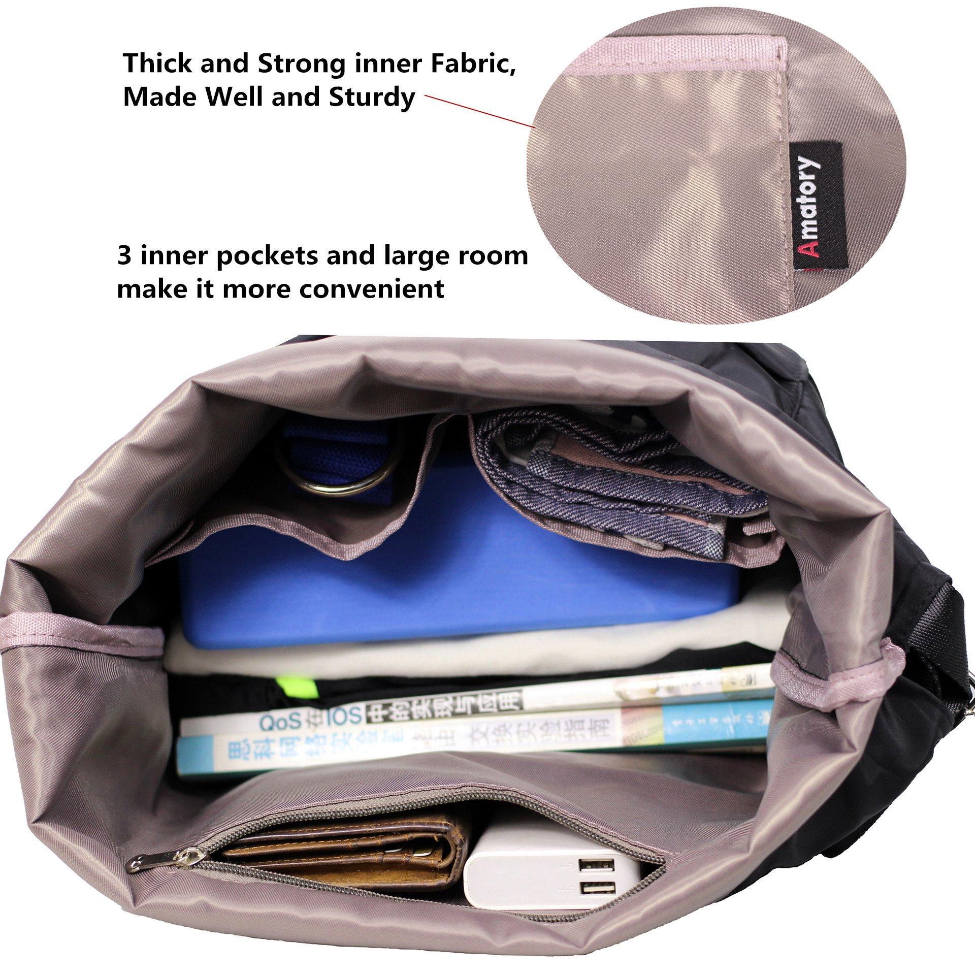 b4bd50dd5be7 Drawstring Backpack String Bag Sports Waterproof Sackpack Gymsack Gym Cinch  Sack (Large-Black) - Gym-Bag-009-Black   Drawstring Bags   Clothing