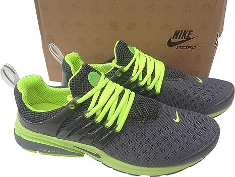 Nike Air Presto Carbono Gris Fluorescentes Mens tamaño 7,5 Zapatillas Zapatillas Shox Zapatos: Amazon.es: Deportes y aire libre