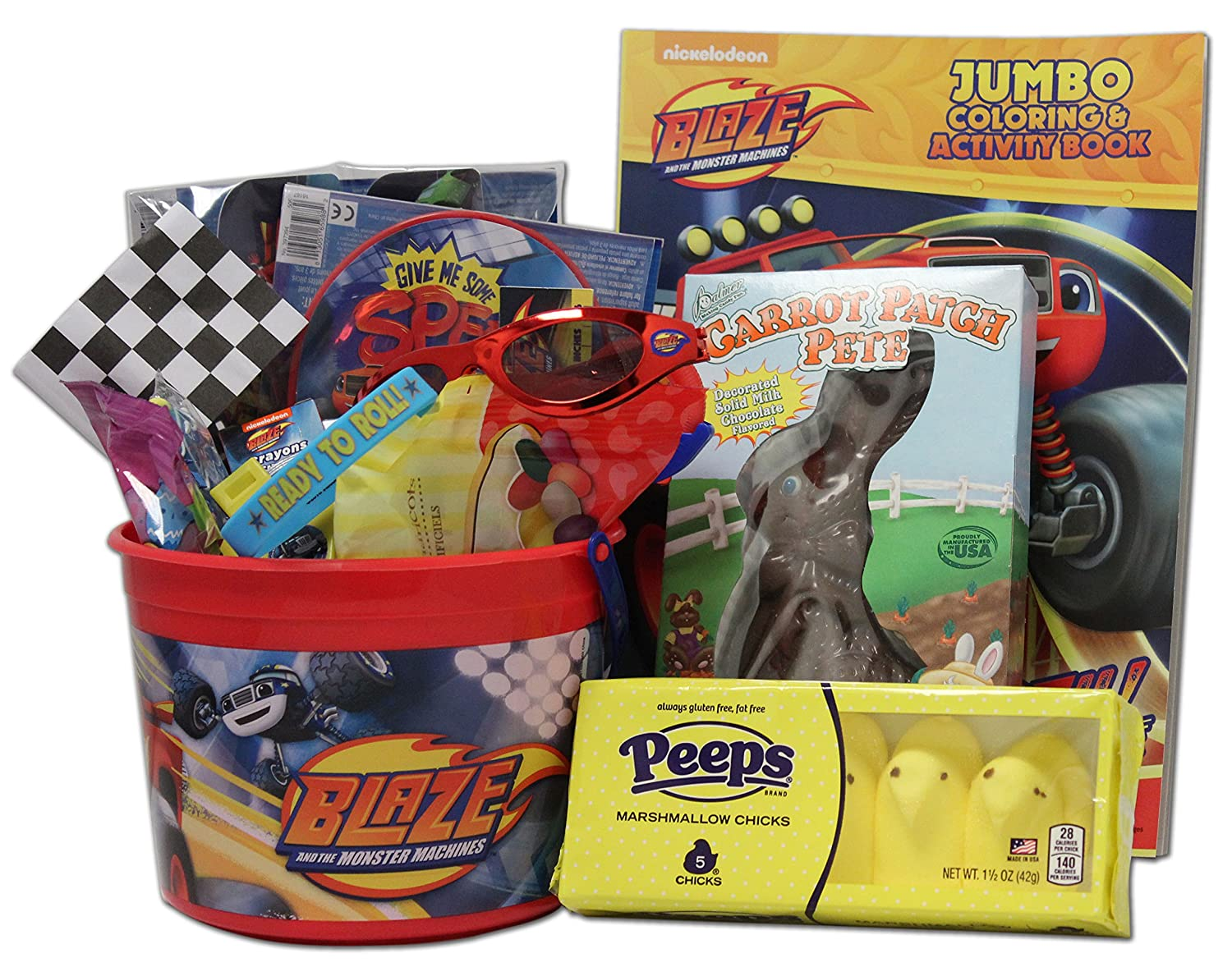 Blaze and the monster machines easter baskets easter wikii blaze and the monster machines easter basket gift bundle containing 20 items this easter basket for kids is great for many ages reusable negle Image collections