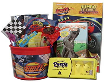Blaze and the monster machines easter basket for kids amazon blaze and the monster machines easter basket for kids negle Choice Image