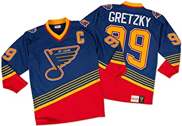 a10aa212 Image Unavailable. Image not available for. Colour: Wayne Gretzky St. Louis  Blues Mitchell & Ness Authentic 1995 Blue NHL Jersey