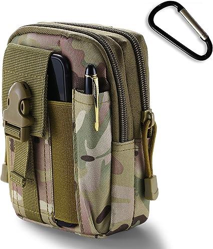 Tactical Black Camo Molle Pouch Compact EDC Utility Bag