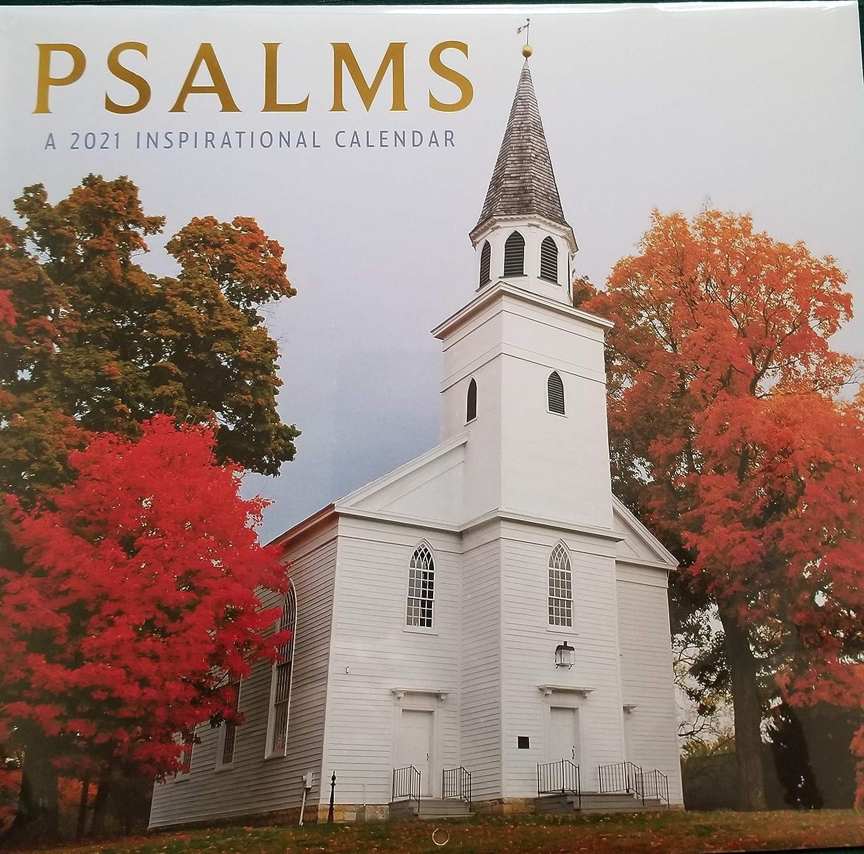 """2021 Psalms ; Inspirational Wall Calendar 12""""x11"""""""