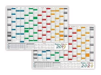 Calendario Rainbow.Rainbow Calendario Da Muro Parete Planer 2018 2019