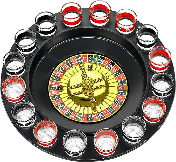 Wanted WA0068 Set de Juego para Beber, Drink Roulette, Multicolor, Aprox. 30 cm: Amazon.es: Hogar