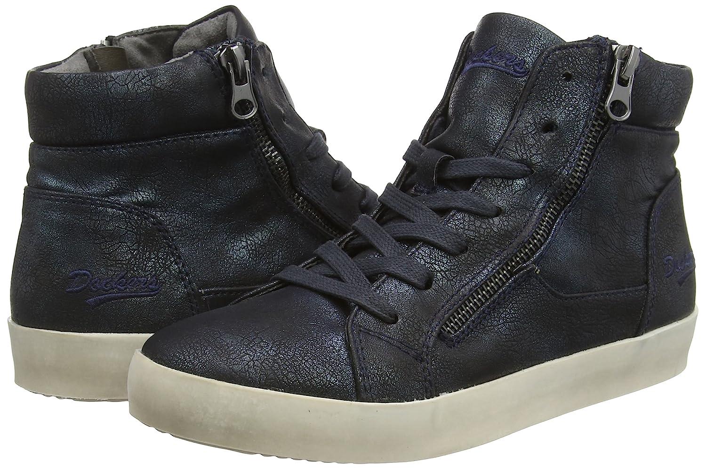 Dockers by Gerli 36AI203 - Sneakers para Mujer, Color Negro (Schwarz/Blau 160), Talla 37