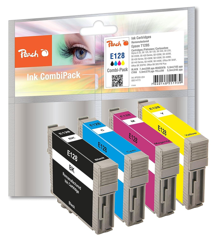 Peach PI200-204 - Pack de cartuchos de tinta compatibles con ...