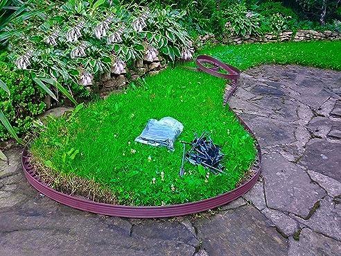 10 meter flexible kunststoff rasenkanten mit 60 securing anker gratis flexible garteneinfassung flexible - Garteneinfassung Art Und Verwendung