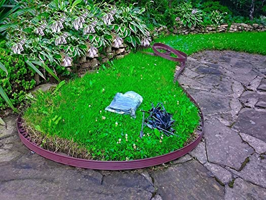 Perfect U0026quot;BUY IN UKu0026quot; 10 Metre   Flexible Plastic Lawn Edging With 60  Securing