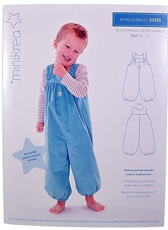 Schnittmuster Retro Overall für Babys & Kinder / Gr. 74-98cm ...