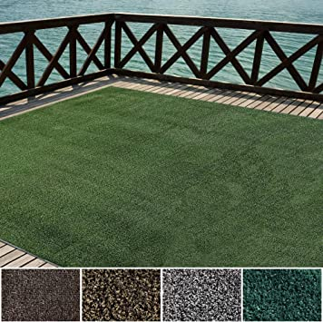 Amazon Com Icustomrug Indoor Outdoor Turf Rugs And Runners Artificial Grass Many Custom Sizes And Widths Finished Edges With Binding Tape Green 12 X 20 Furniture Decor