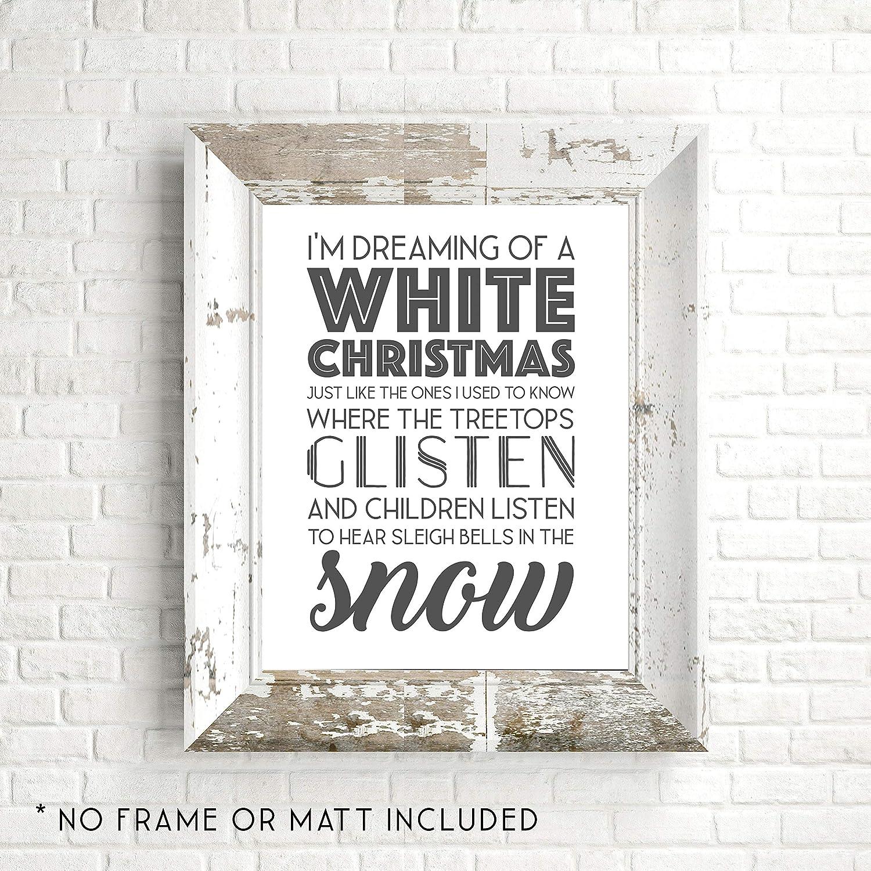 Amazon.com: I\'m Dreaming of a White Christmas - White - Holiday ...