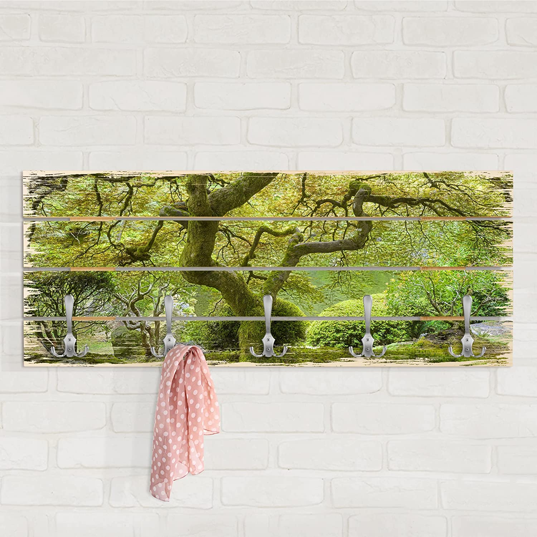Bilderwelten Perchero de Madera - Green Japanese Garden ...