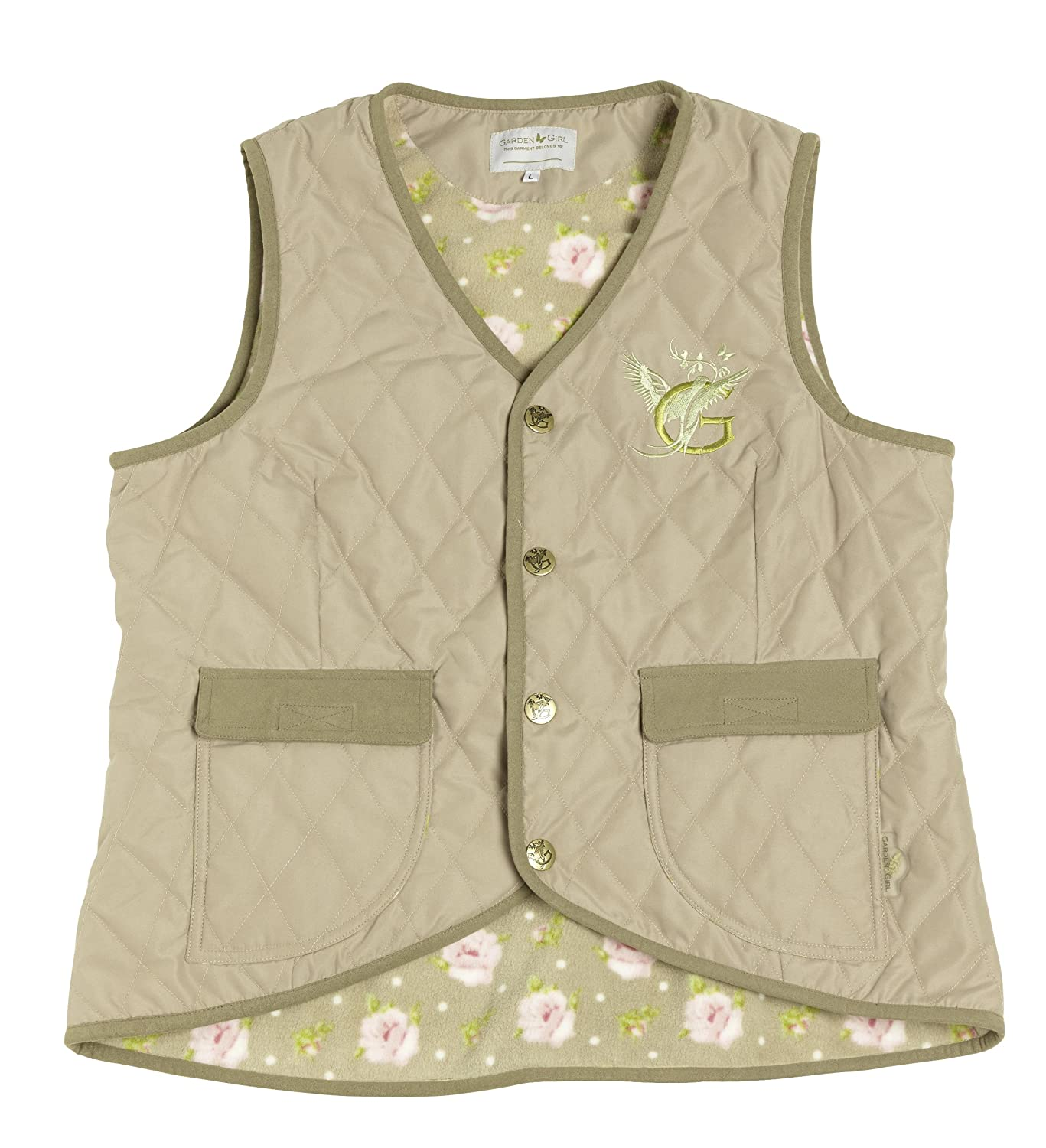 Garden Girl USA Quilted Vest, XX-Large, Beige