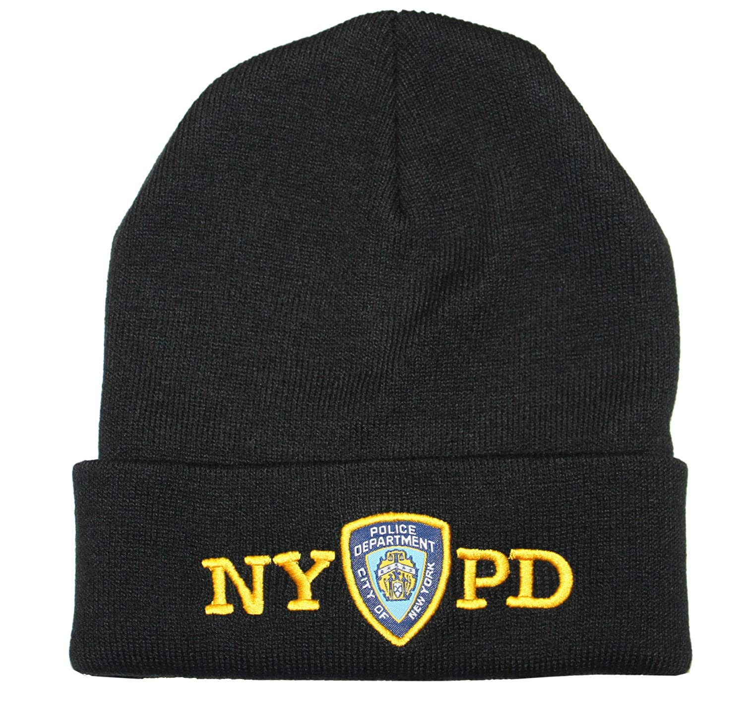 amazon com nypd winter hat police badge new york police
