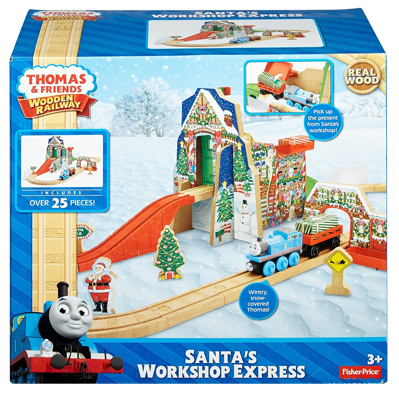 Amazoncom Fisher Price Thomas Friends Wooden Railway Santas