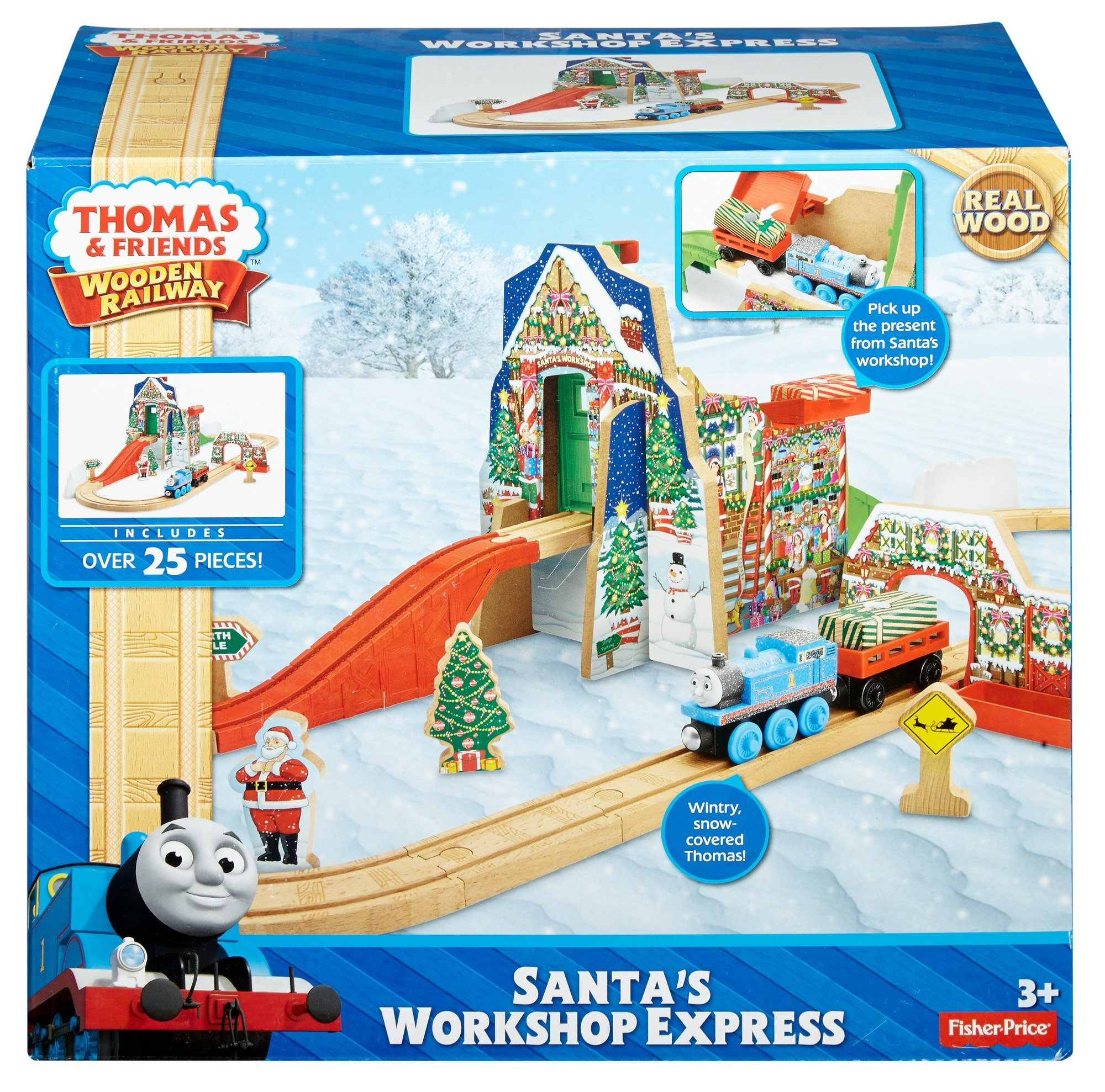 Fisher Price Thomas Friends Wooden Railway Santa S