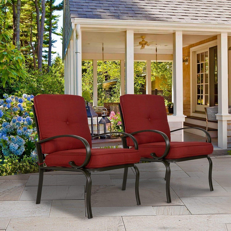 Amazon Com Overstock Set Of 2 Patio Club Chairs Outdoor Patio