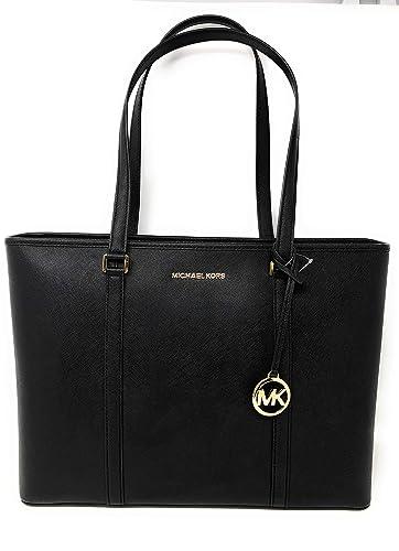 0918270d3c6d Amazon.com  Michael Kors Large Sady Carryall Shoulder Bag (Black)  Shoes