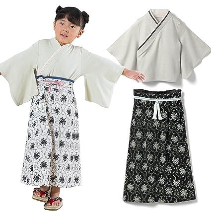98b68c124eaed Sweet Mommy 袴ロンパース 日本製ちりめん×オーガニックコットン 裾タイプ2WAY ロンパース ワンピース ベビー