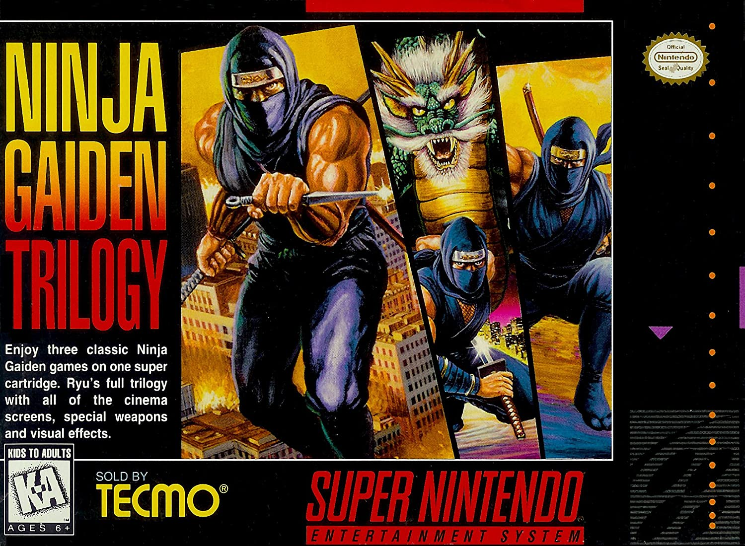 Amazon.com: Ninja Gaiden Trilogy - (Super Nintendo, SNES ...