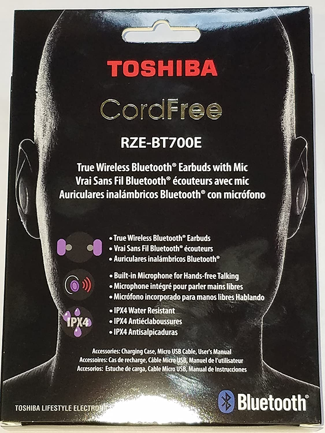 Amazon.com: Toshiba True Wireless Stereo Sweat-Resistant Bluetooth Earphones Purple (RZE-BT700E): Musical Instruments
