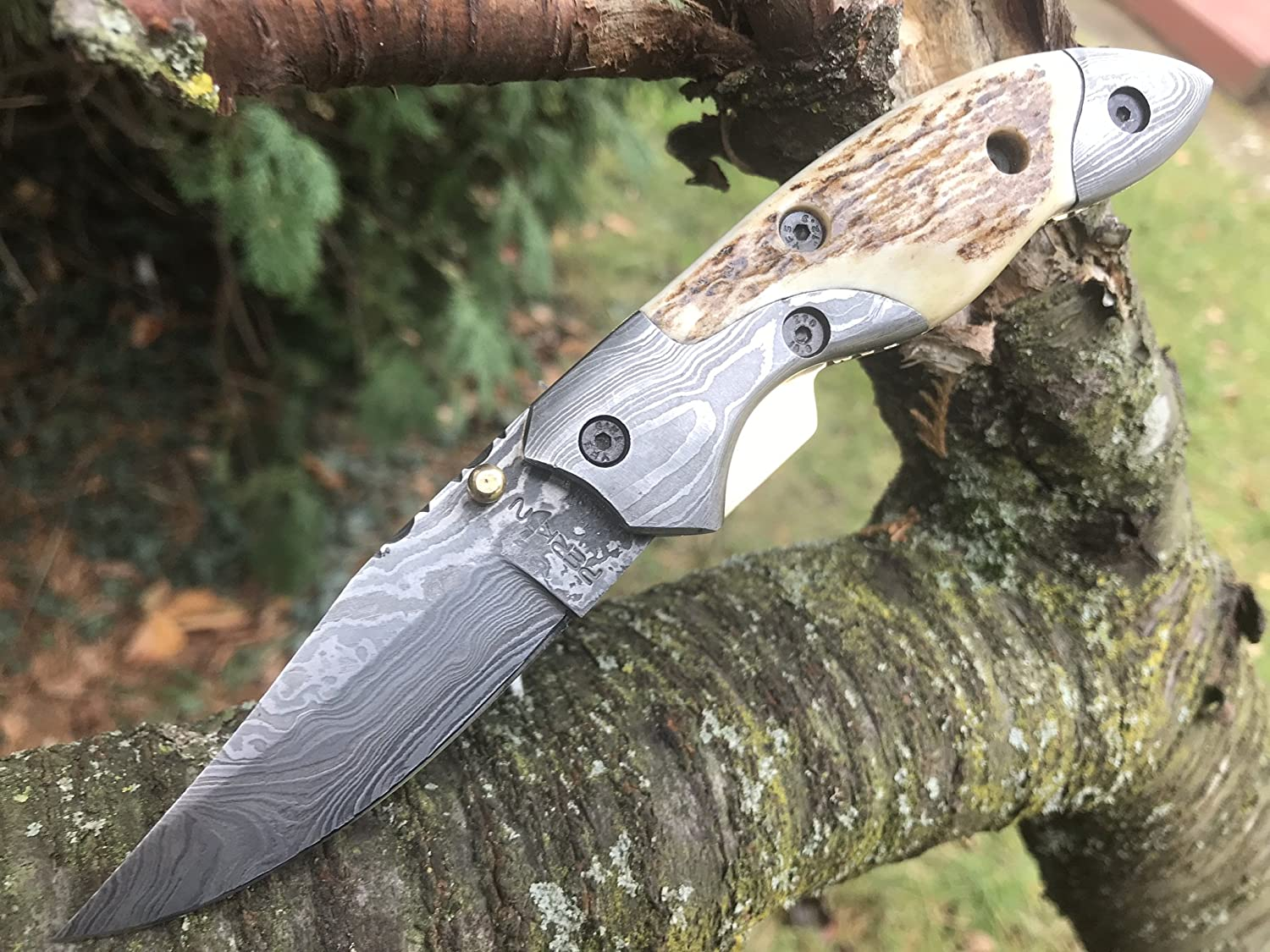Perkin – Handmade Damascus Pocket Knife – Beautiful Folding Knife