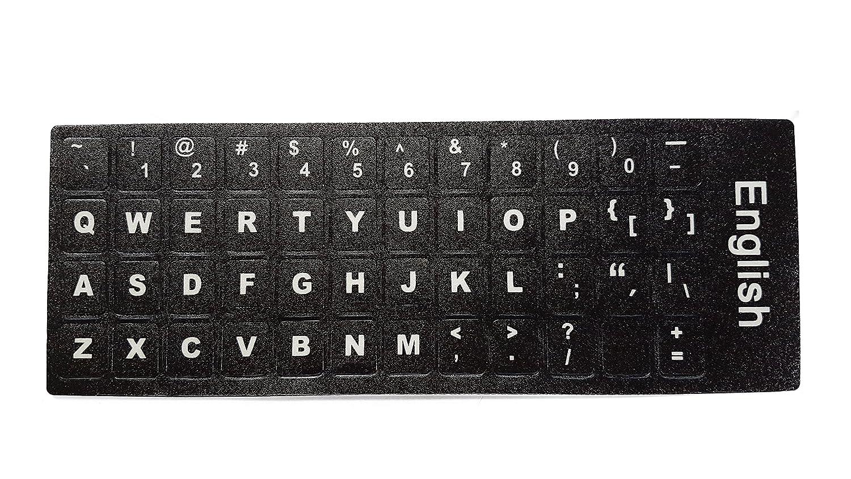 Ledeli Teclado decorativo para teclado Keyboard Pegatinas de teclado Pegatina para PC, Laptop, portátil, teclados de ordenador QWERTY US English Layout: ...