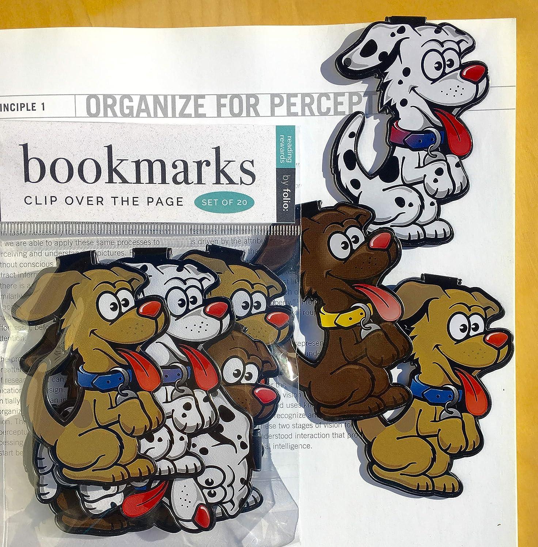 犬のしおり - (ブックマーカー20個セット) 学生、子供、ティーン、女の子、男の子向け大容量アニマルブックマーク 読書のおインセンティブ、誕生日のお気に入り、読書の賞や教室の賞品に最適です。   B07JZL3S97