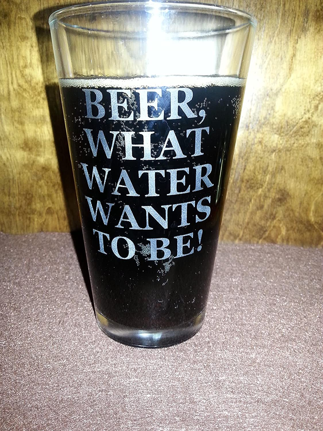 Beer Pint Glass Custom Etched