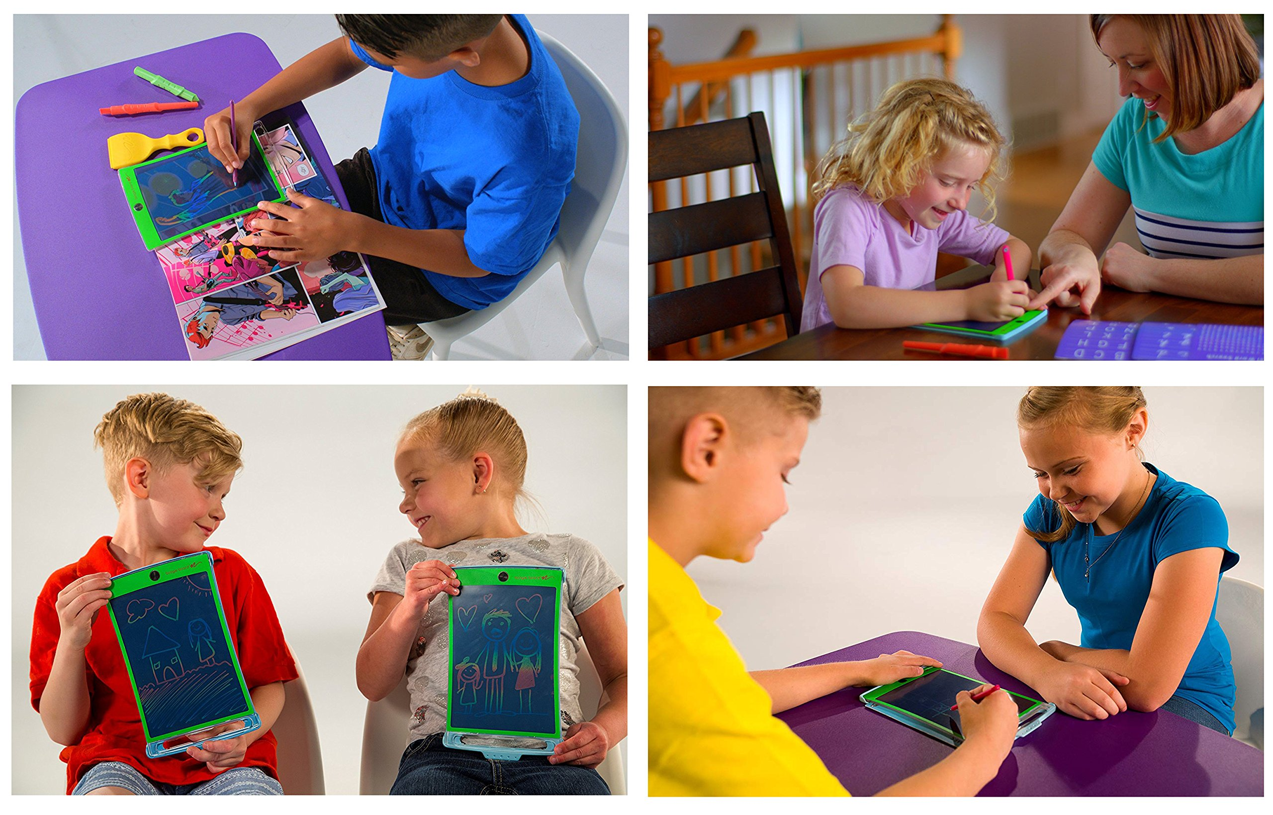 Magic Sketch Deluxe KIT | LCD Writing Board, Drawing, Doodle, Learning Tablet | Includes Protective Cover, 60 Stencils, 4 Styluses, 1 Stamp Roller & 3 Stamps | Kids, Office, School, House, Car Rides by Boogie Board (Image #5)