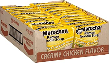 24-Pack Maruchan Ramen Creamy Chicken Flavor, 3 oz
