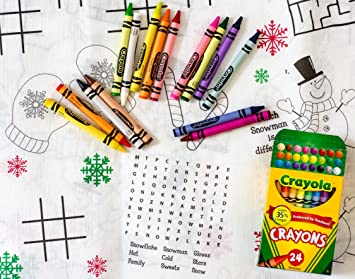 kids coloring and activity christmas tablecovertablecloth bundle 2 items 1 tablecover and