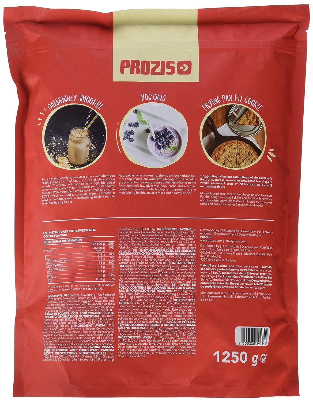 Prozis Instant Oats, Galletas - 1250 gr: Amazon.es: Salud y cuidado personal