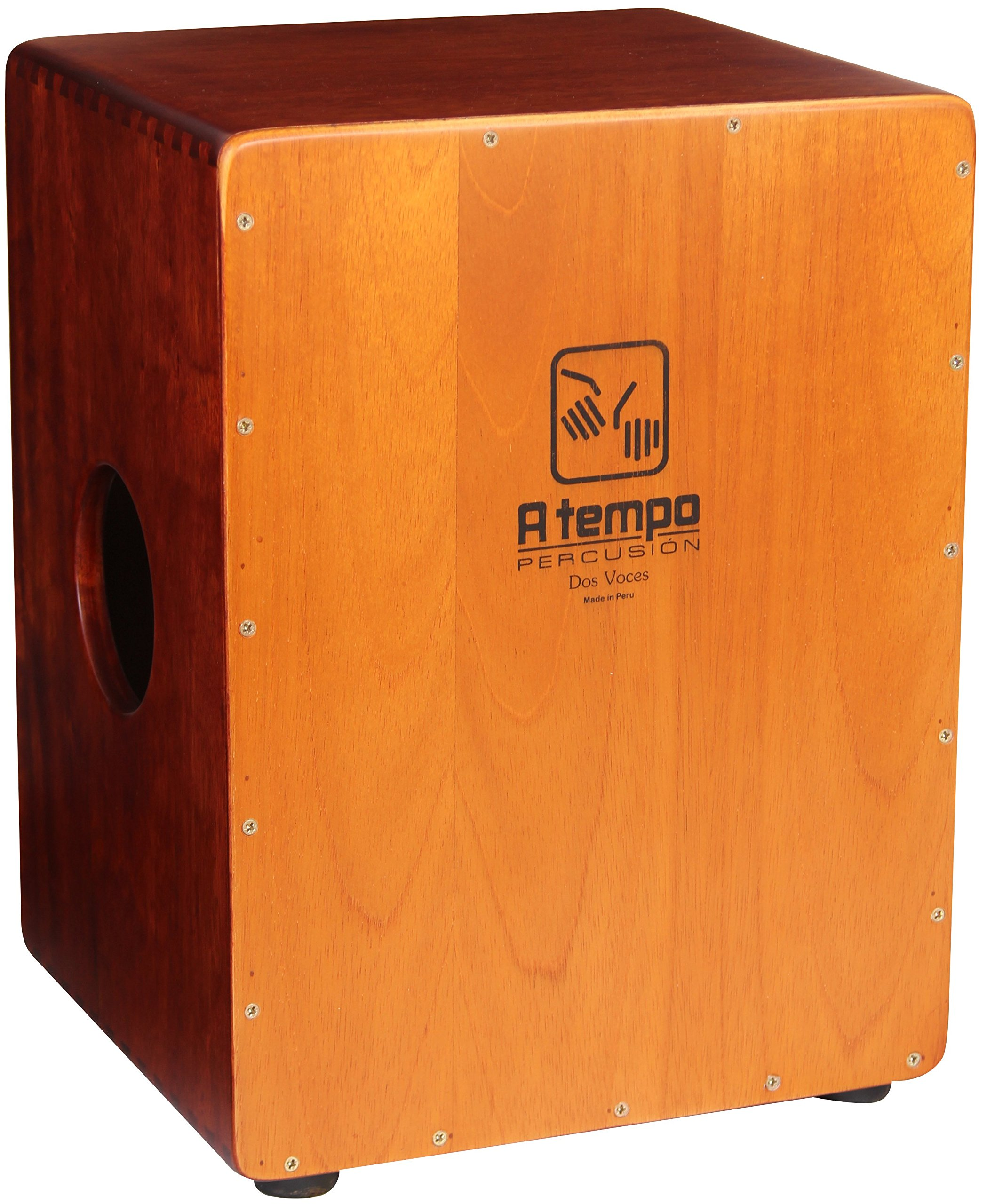 A Tempo Percussion Dos Voces (Two Voices) Cajon with Free Gig Bag
