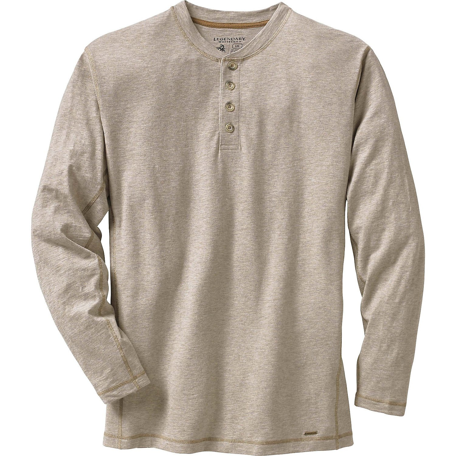Legendary Whitetails Men's Maverick Slub Henley Thicket Heather Large