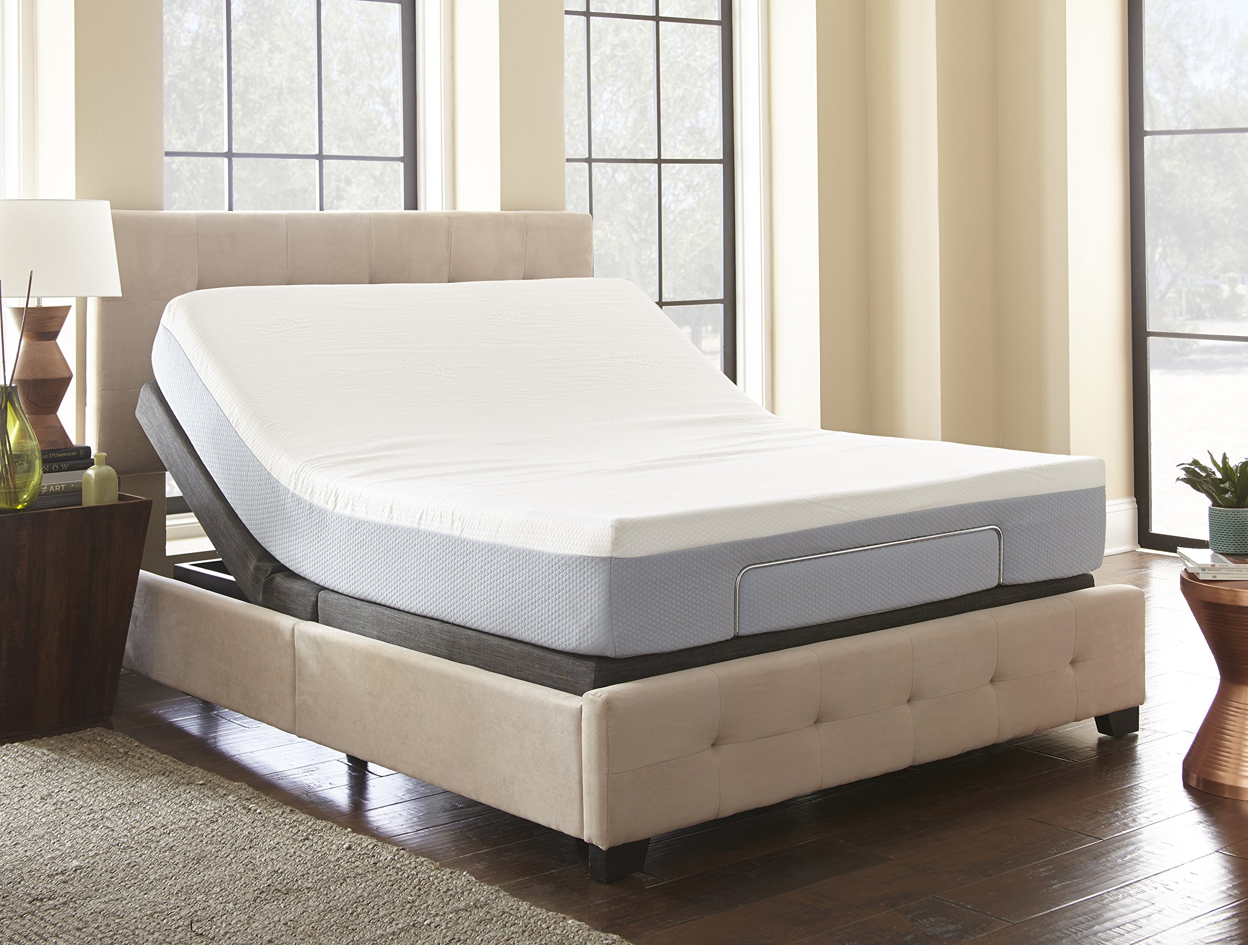 Boyd Sleep Lifestyle Adjustable Bed Frame/Mattress Foundation with Tethered Remote, Twin XL by Boyd Sleep