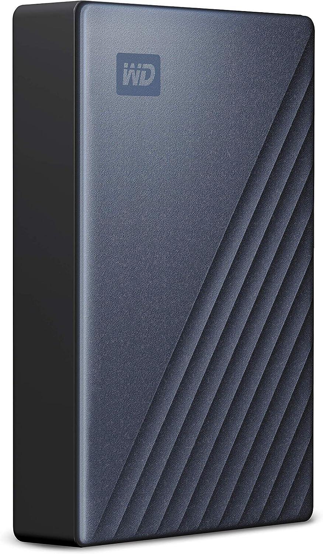 WD 4TB My Passport Ultra, Listo para USB-C, Color Azul, Compatible ...
